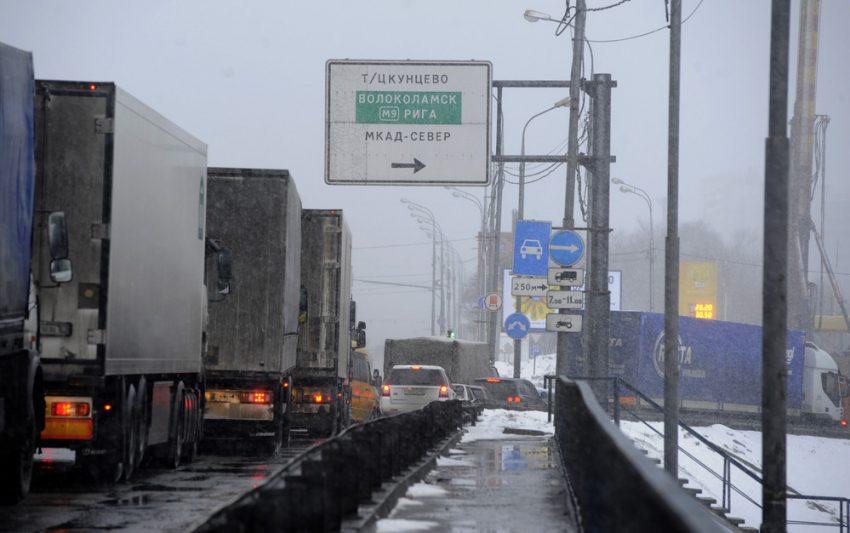 Ограничения движения грузовиков в Москве
